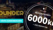 Dunder Casino - Välkomstbonus 6000 kr + 200 freespins hos Dinabonusar.nu!