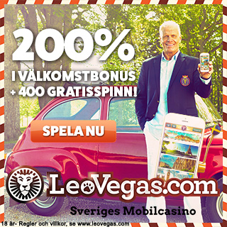 Leovegas - Grym välkomstbonus och ett fantastiskt mobil casino! Hos Dinabonusar.nu