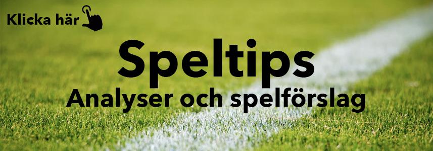 Speltips - Analyser och spelförslag från Dinabonusar.nu